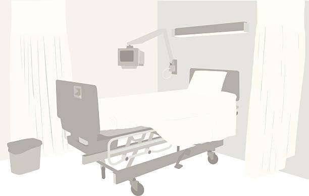bildbanksillustrationer, clip art samt tecknat material och ikoner med empty room vector silhouette - sjukhusavdelning