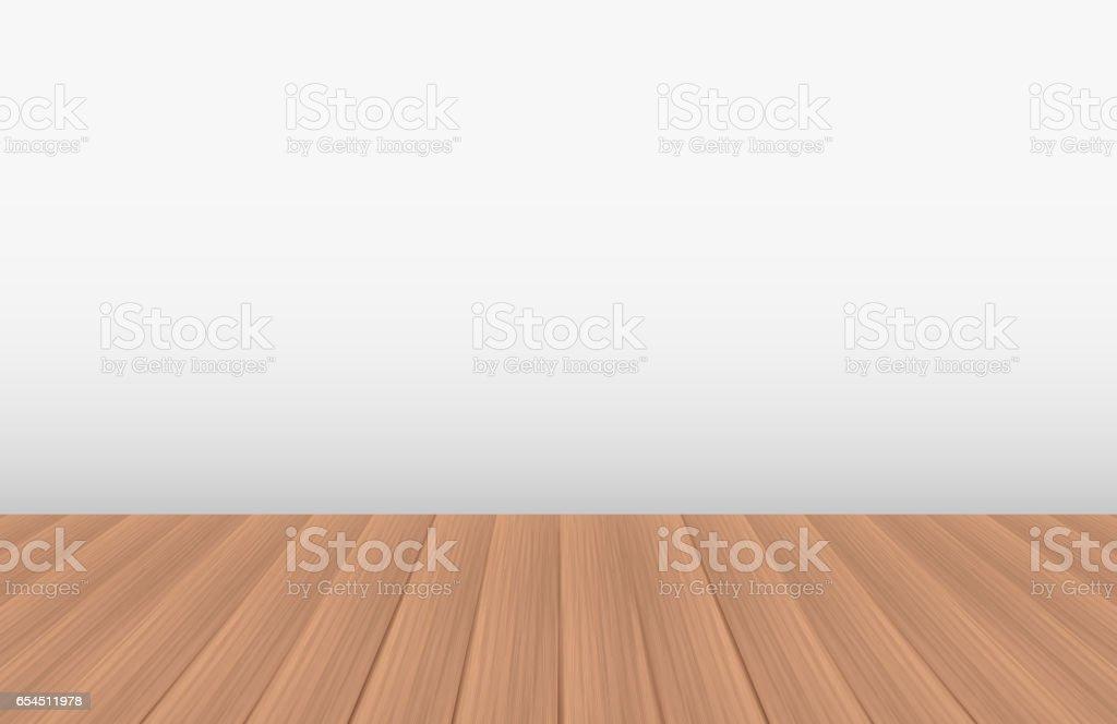 empty room with a real wood floor royaltyfree stock vector art