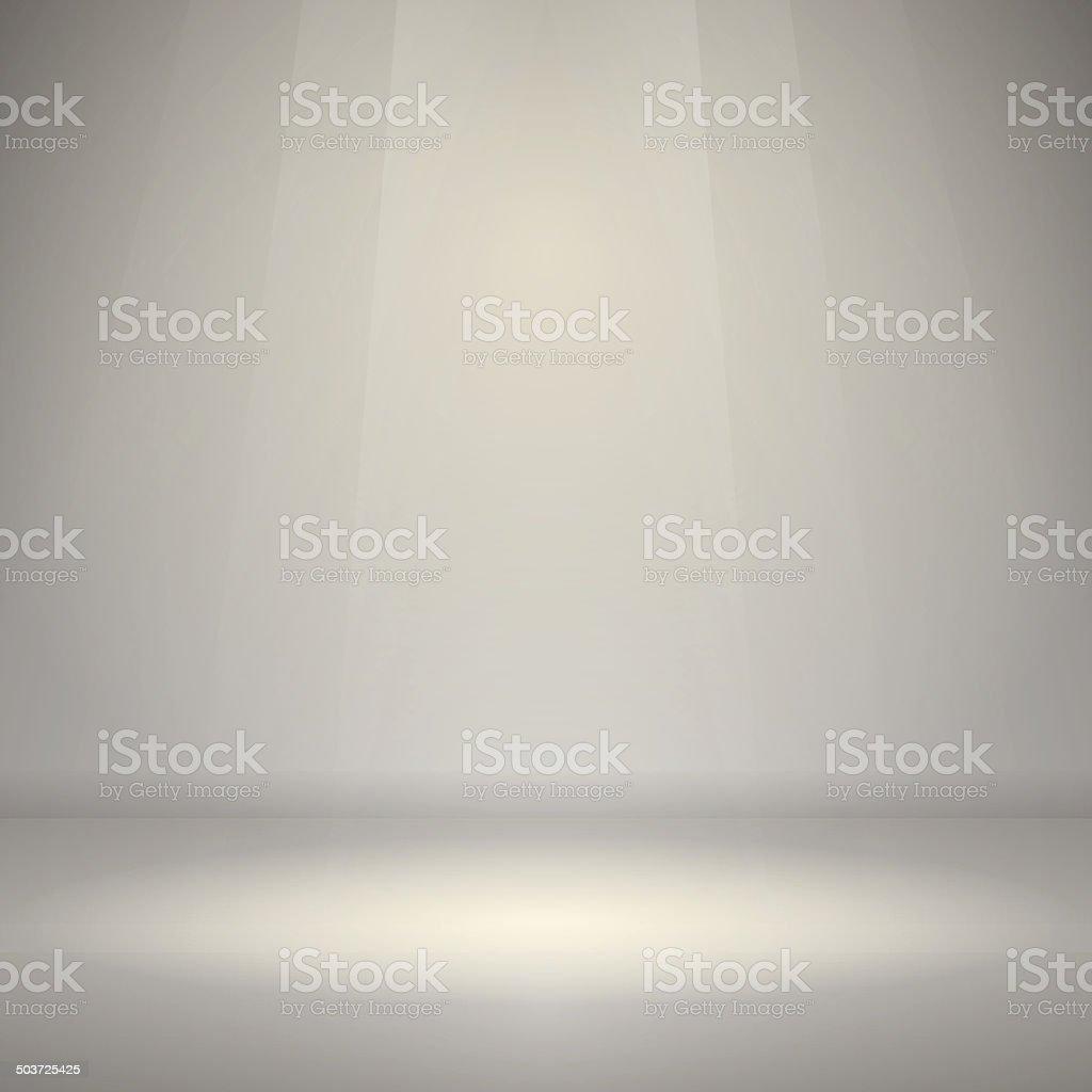 Empty Room with Light vector art illustration