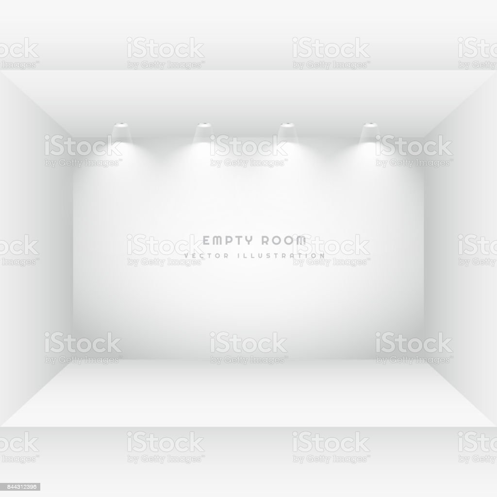 empty room with spot lights