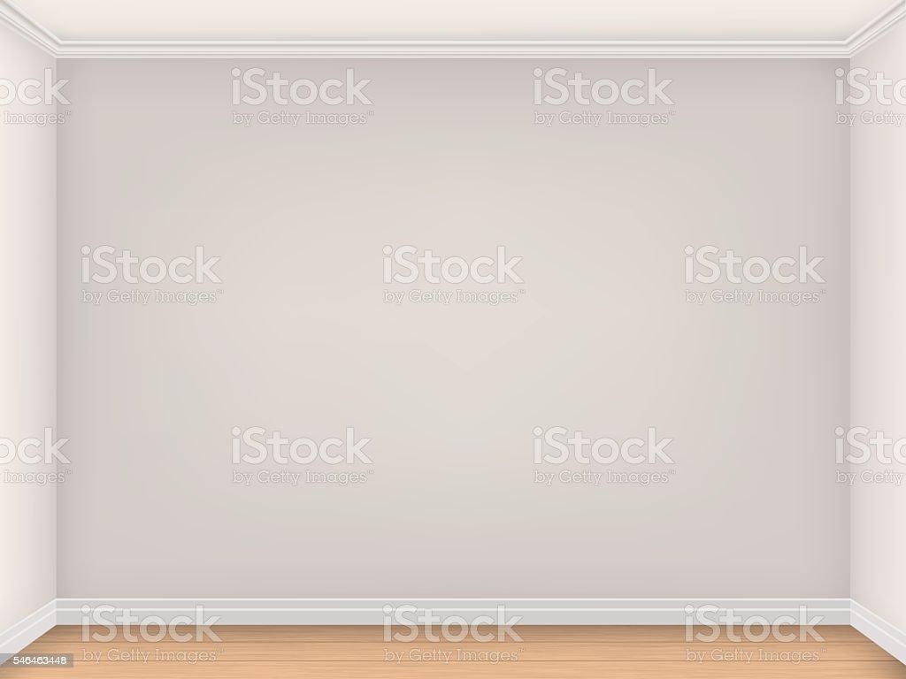Empty room with three beige walls vector art illustration