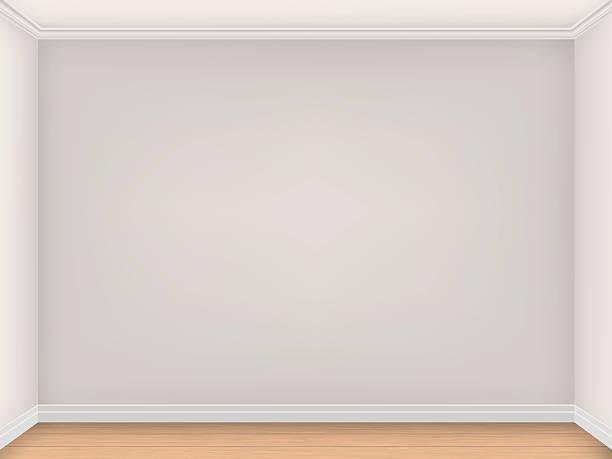 empty room with three beige walls - gesims stock-grafiken, -clipart, -cartoons und -symbole