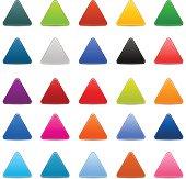 Empty satin triangle icon web internet blank triangular button