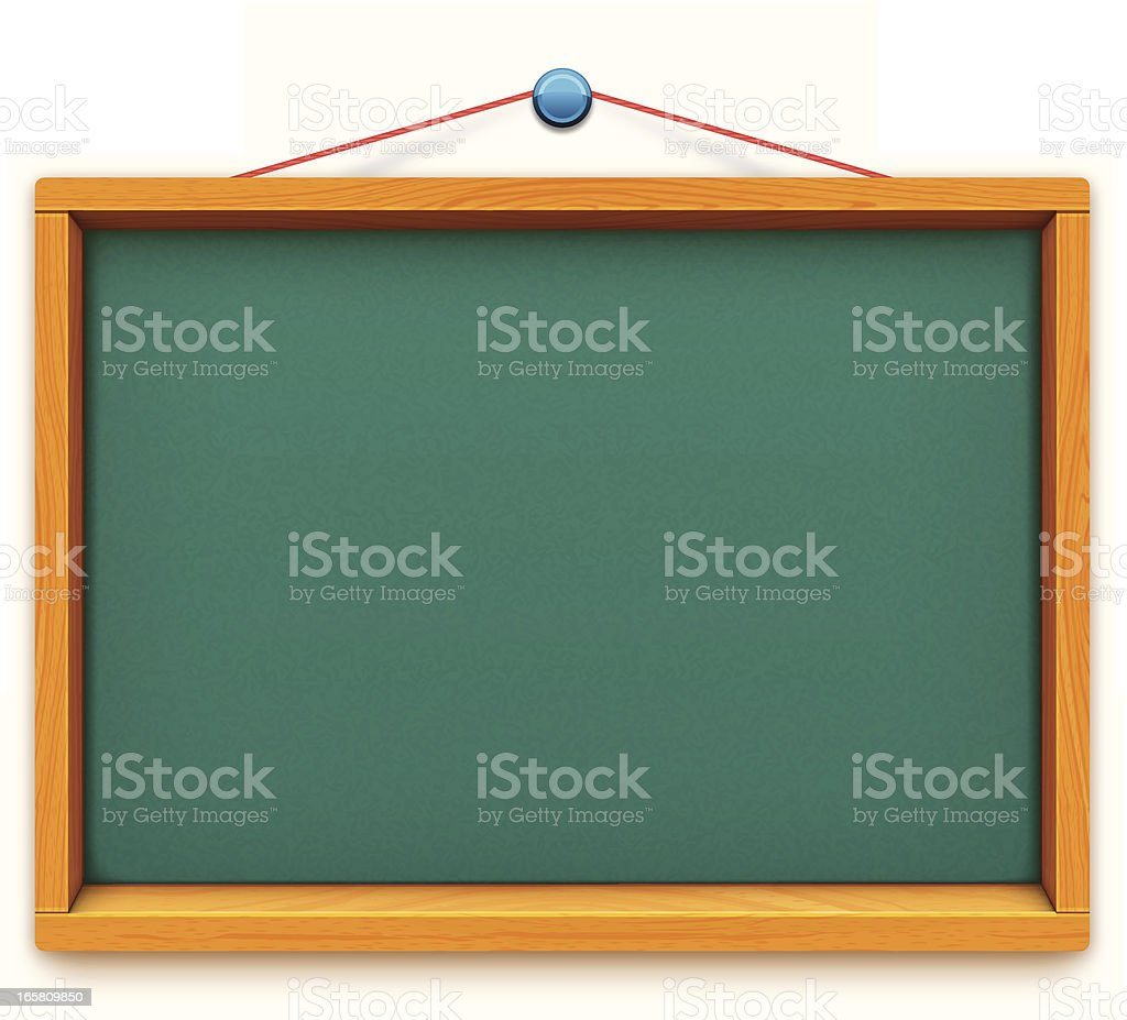 empty school blackboard royalty-free stock vector art