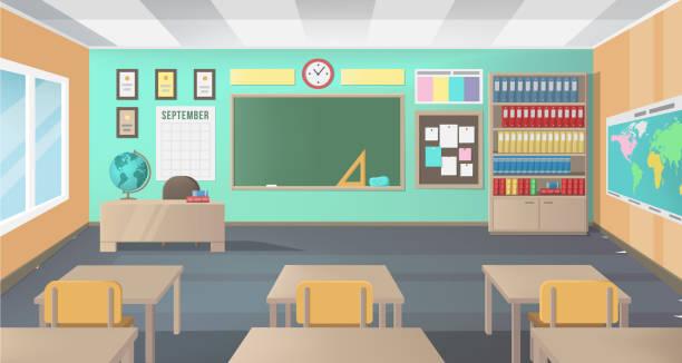 空の学校の教室 - 教室点のイラスト素材/クリップアート素材/マンガ素材/アイコン素材