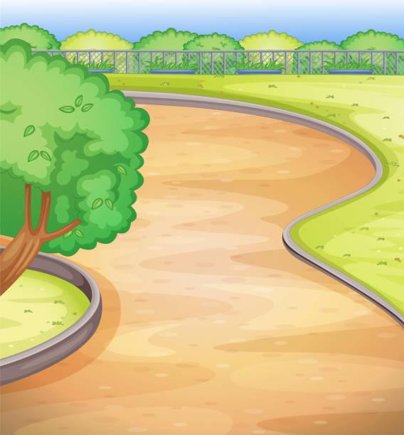 空の校庭 - 校庭点のイラスト素材/クリップアート素材/マンガ素材/アイコン素材