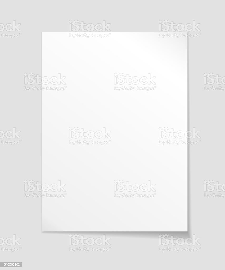 Empty sheet of paper template vector art illustration