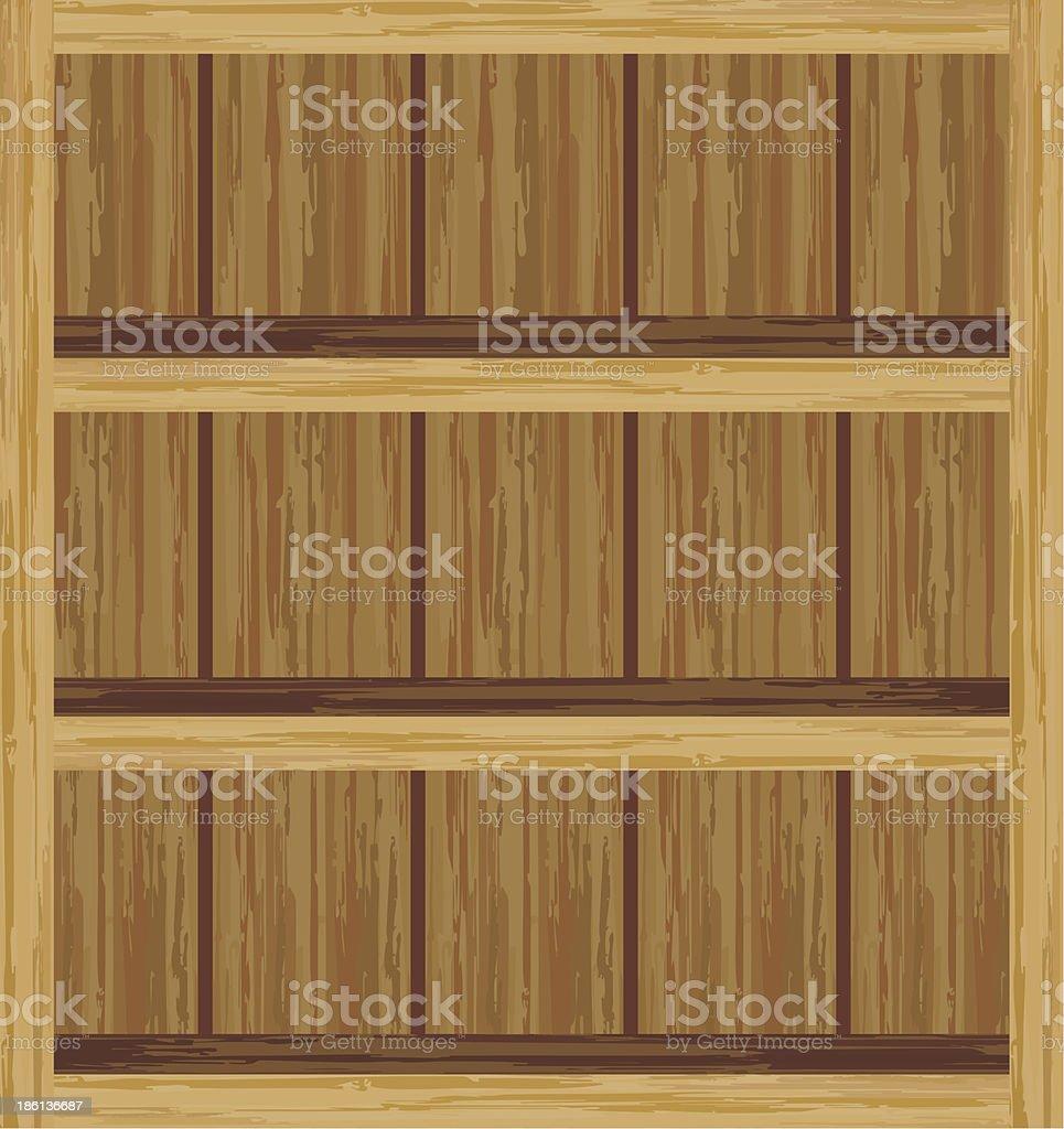 Empty shelfs royalty-free stock vector art