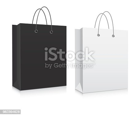 Empty Shopping Bag black and white
