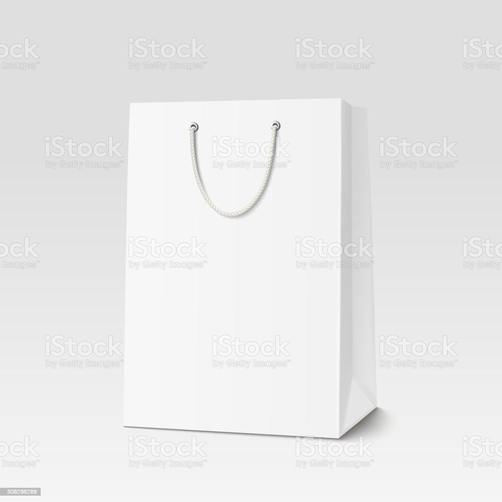 Vazio bolsa de compras para publicidade e marca - ilustração de arte em vetor