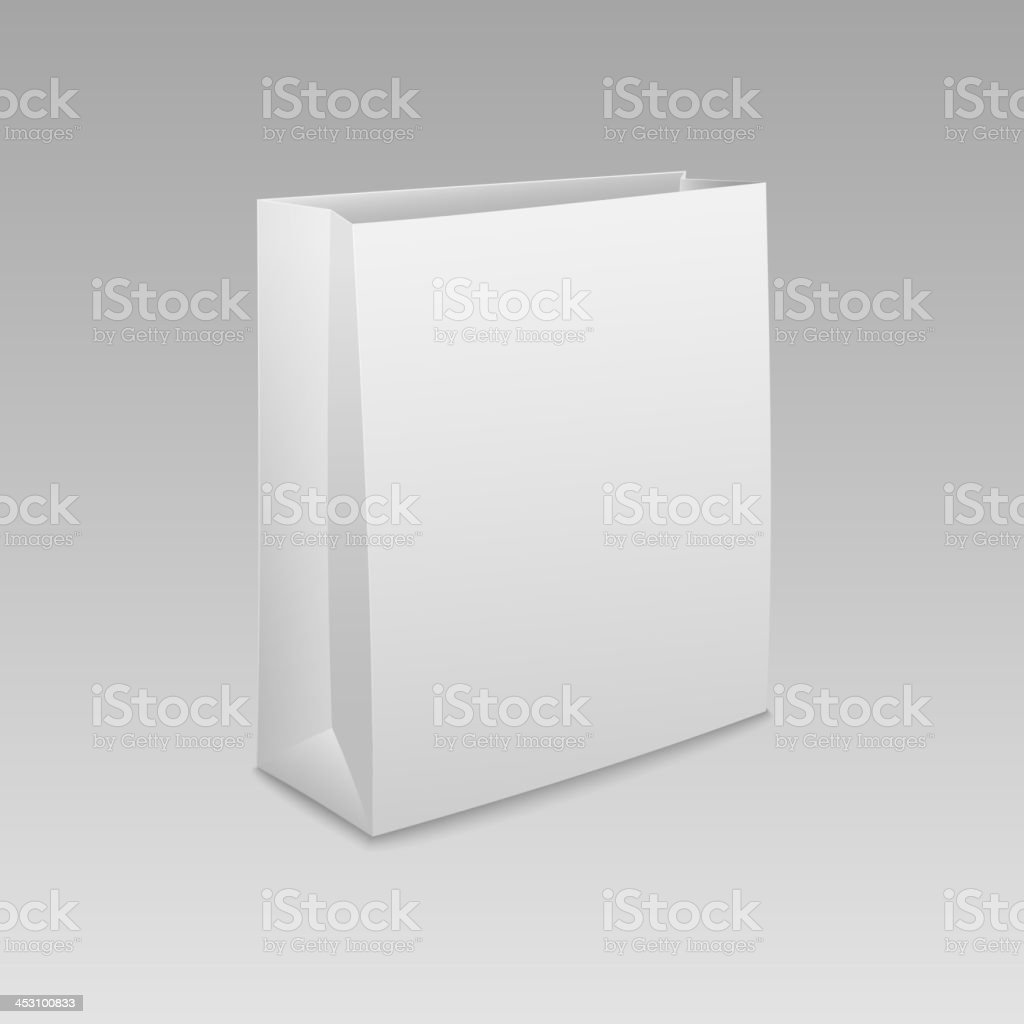 Empty shopping paper bag royalty-free stock vector art