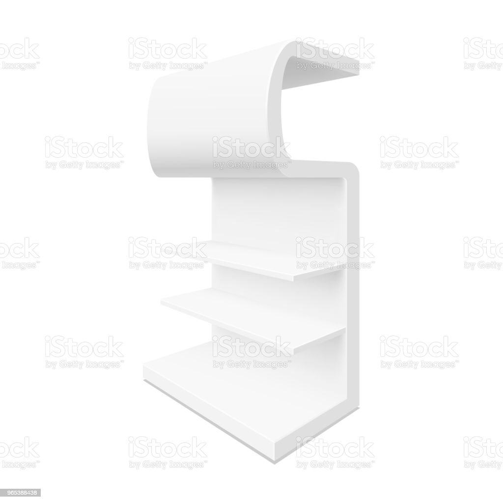 Empty showcase. Illustration isolated on white background empty showcase illustration isolated on white background - stockowe grafiki wektorowe i więcej obrazów biały royalty-free