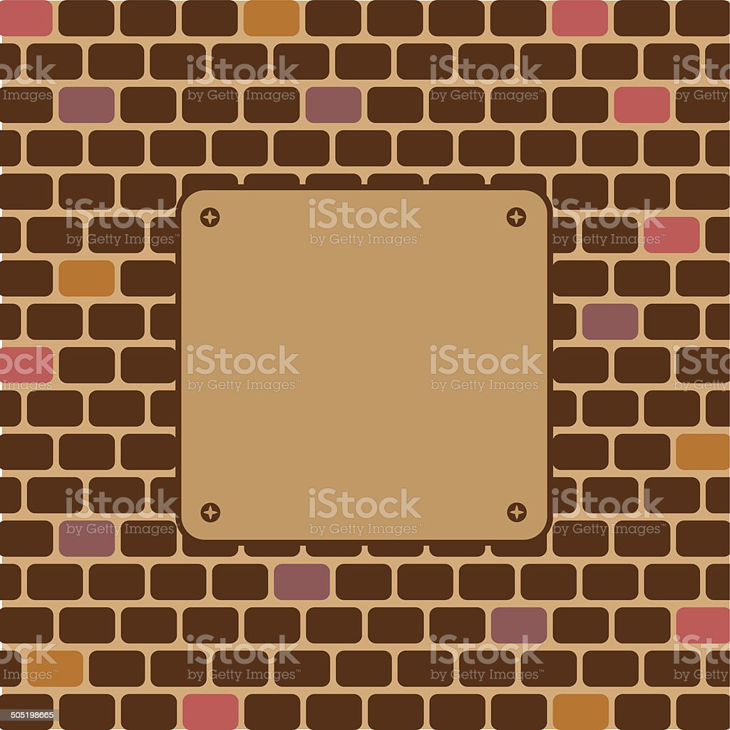 empty sign on brick wall royalty-free empty sign on brick wall stock vector art & more images of asphalt