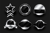 istock empty silver label and badges collection design 1266567078