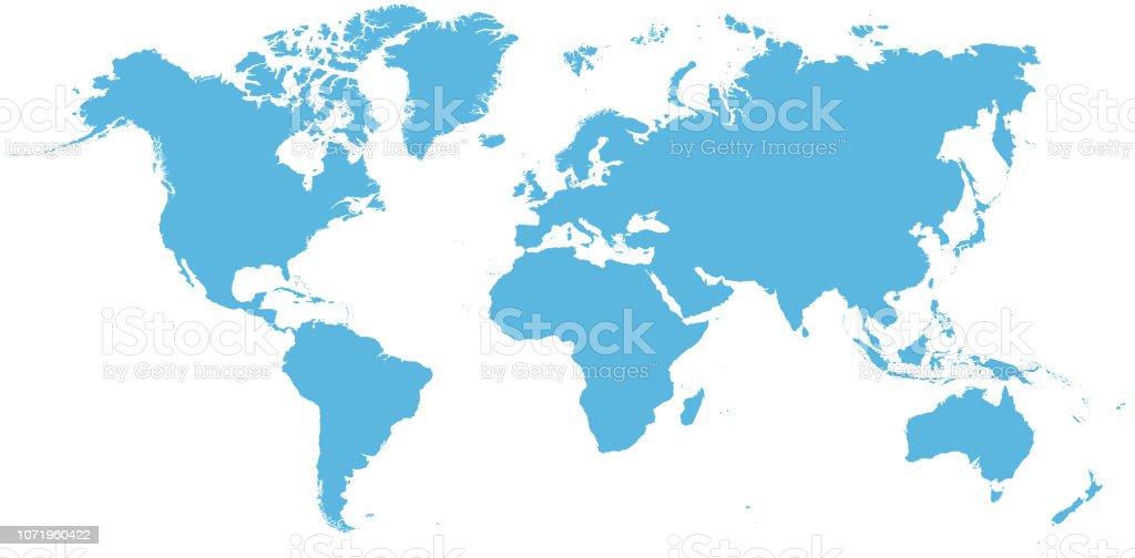 Mapa Del Mundo Vacio.Ilustracion De Mapa Del Mundo Vacio Azul Del Cielo Y Mas