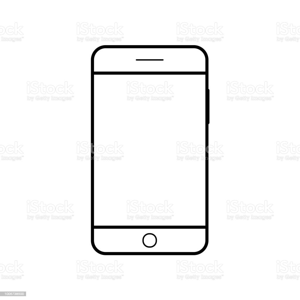 Empty Smartphone Icon Cell Phone Symbol Mobile Gadget Pda Template