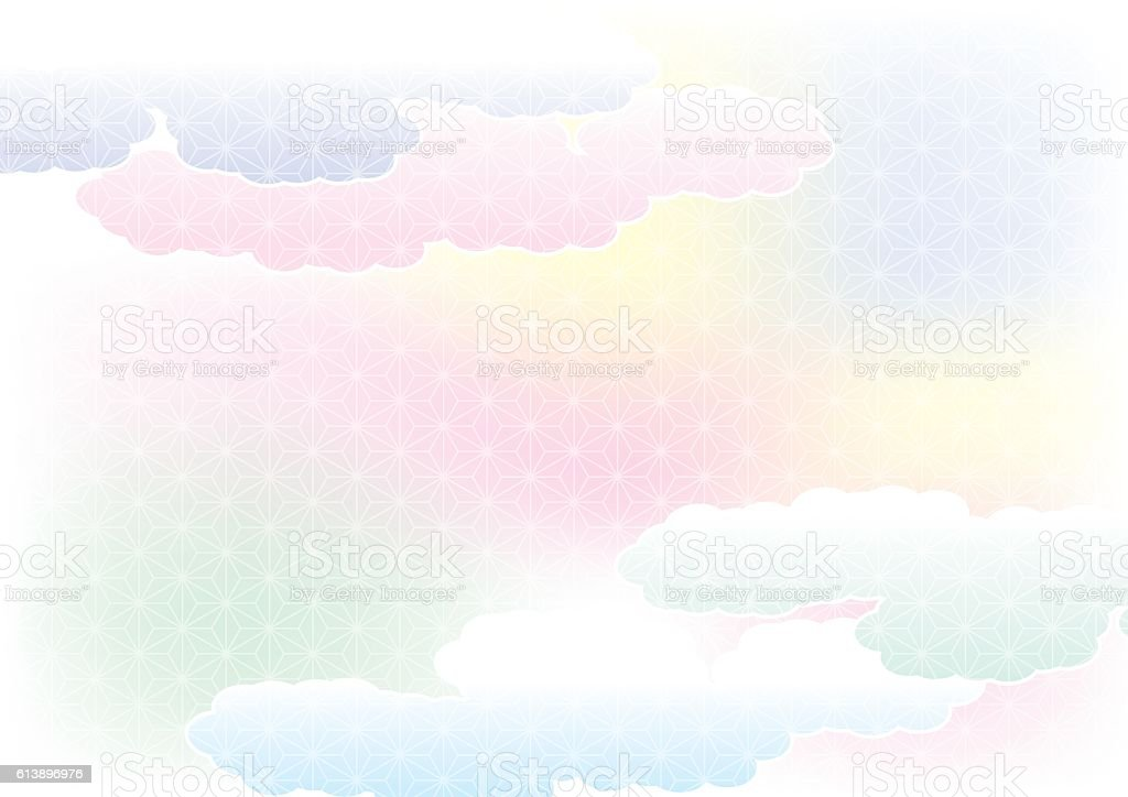 Empty spring of haze. Pattern of Japan. vector art illustration