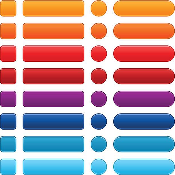 empty square circle rounded rectangle shape web icon internet button - 按鈕 幅插畫檔、美工圖案、卡通及圖標