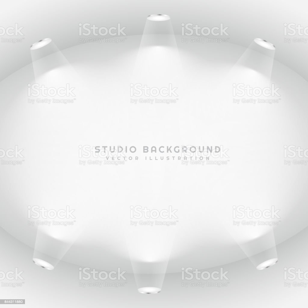 empty studio lights background