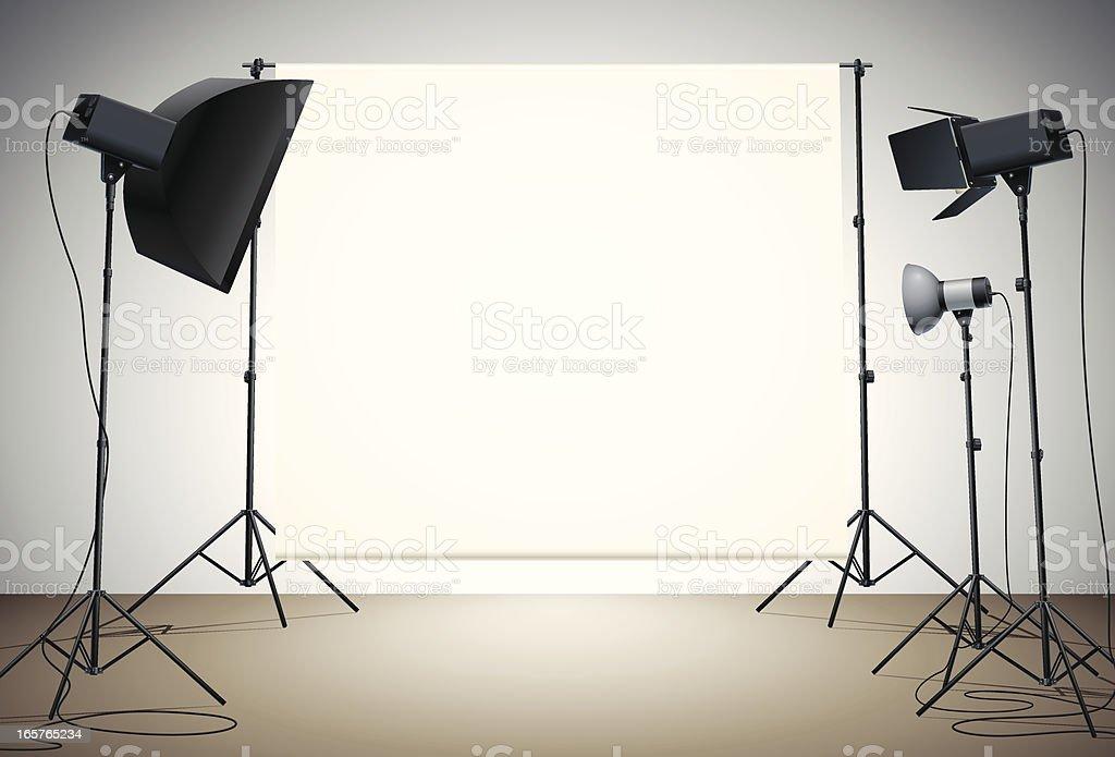 empty studio royalty-free stock vector art