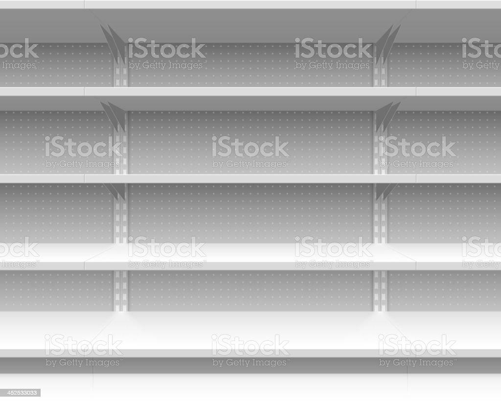 Empty supermarket shelves vector illustration vector art illustration