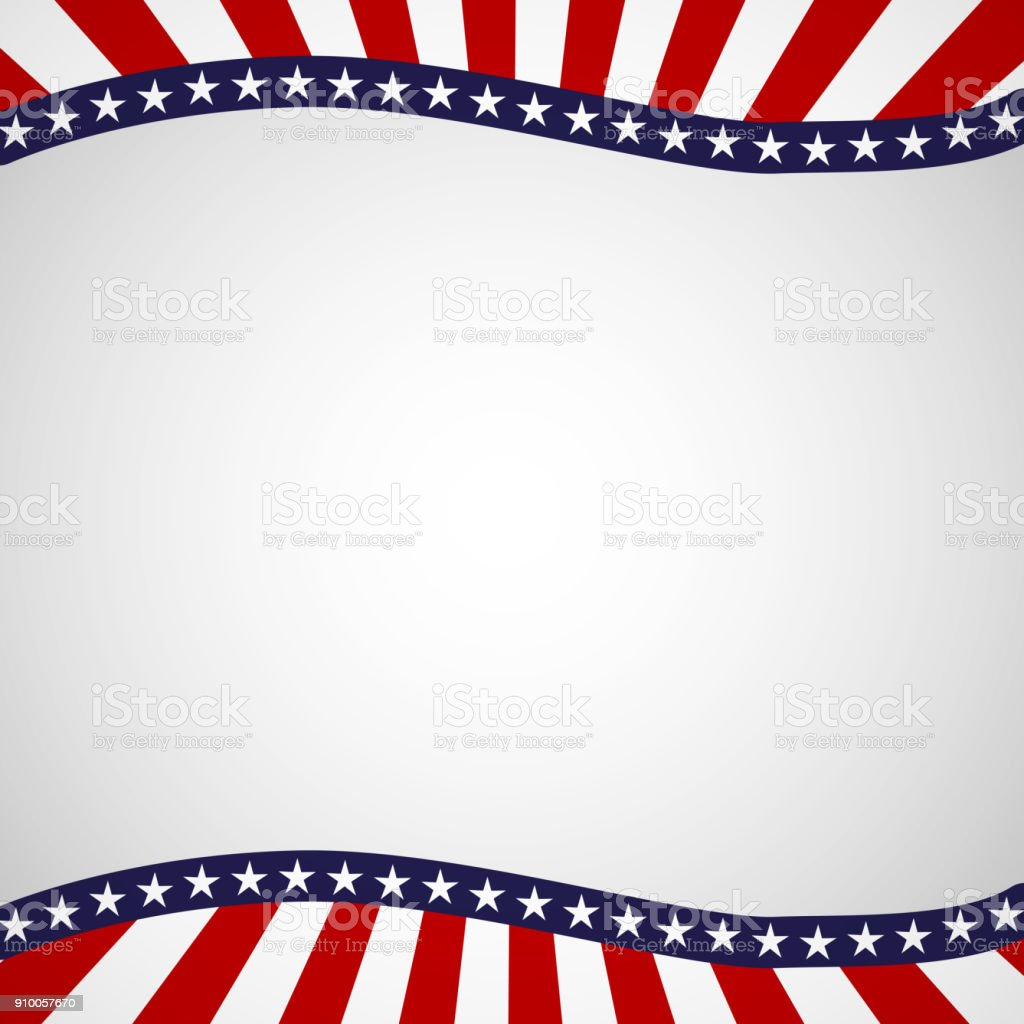 Empty template with a pattern of stars and stripes of colors of the national flag of the USA Patriotic Background for Holidays Independence Day Presidential Day Labor Day Element of card design Vector royalty-free empty template with a pattern of stars and stripes of colors of the national flag of the usa patriotic background for holidays independence day presidential day labor day element of card design vector stock illustration - download image now