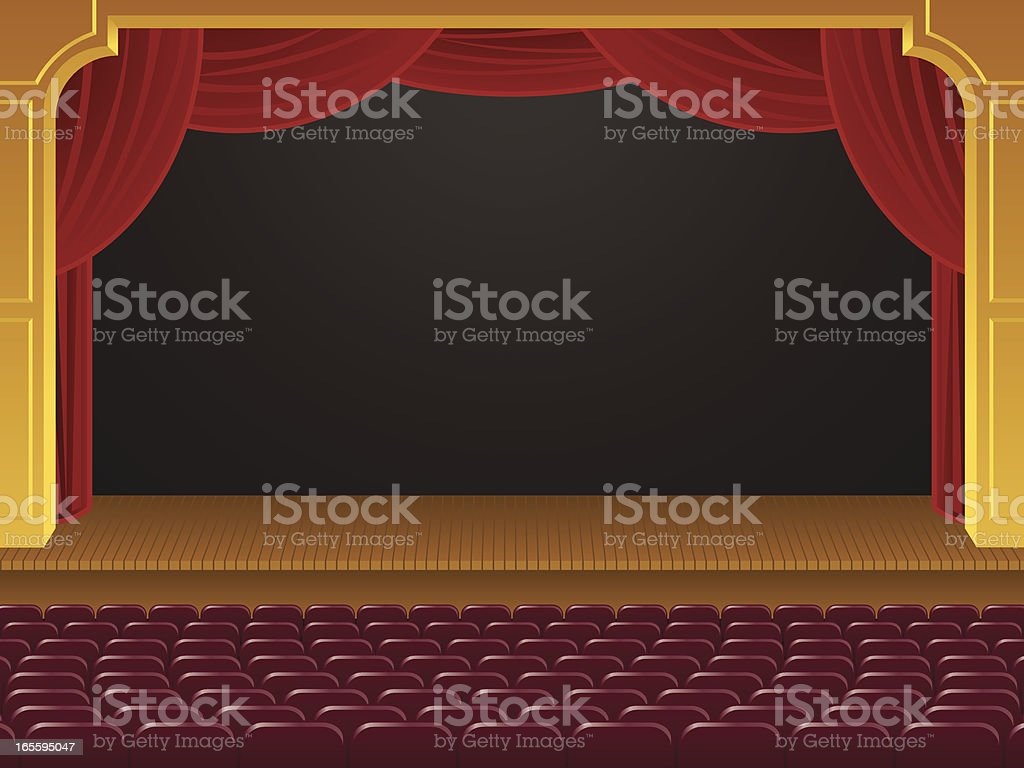 Empty Theater royalty-free empty theater stock vector art & more images of art