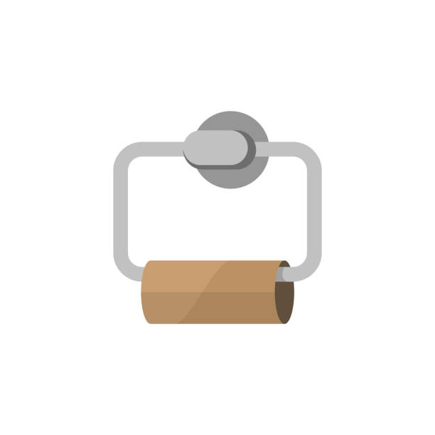 empty toilet paper - papier toaletowy stock illustrations