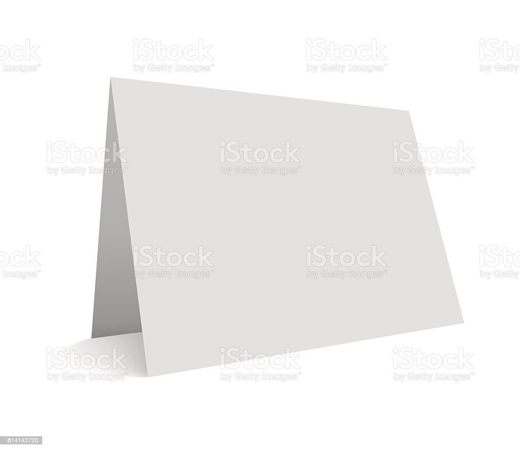 Empty vector illustration greeting card isolated on white.