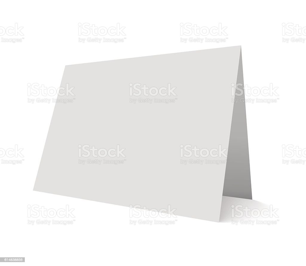 Empty vector mockup illustration greeting card isolated on white. vector art illustration