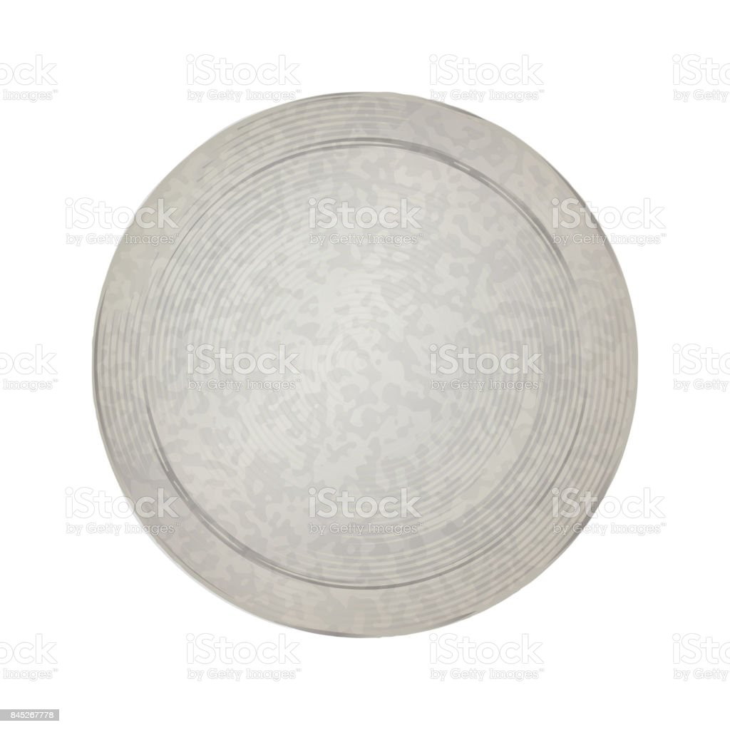 empty vector vintage template for coins or medals with the old