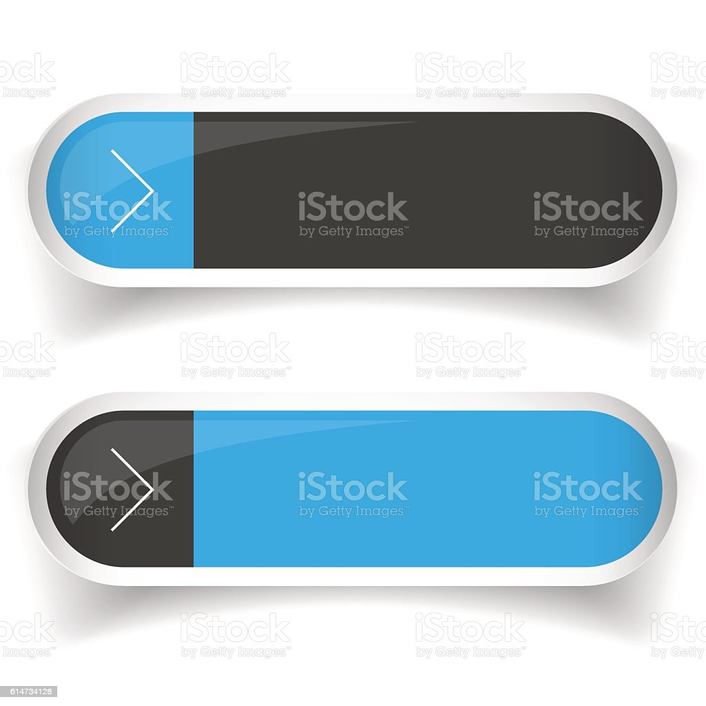 Empty Web Button set vector vector art illustration