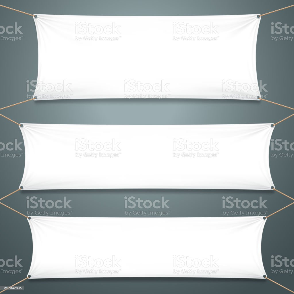 Empty White Banners vector art illustration