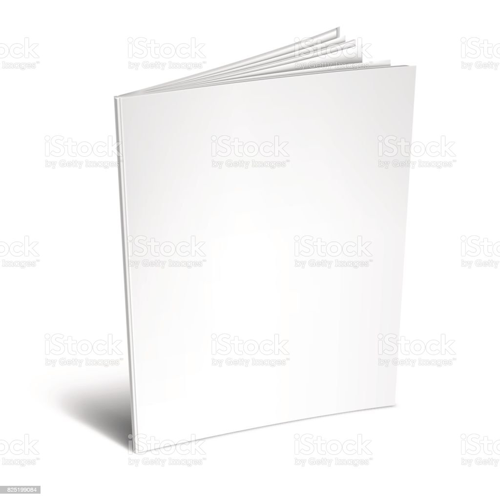 Empty White Book or Magazine vector art illustration
