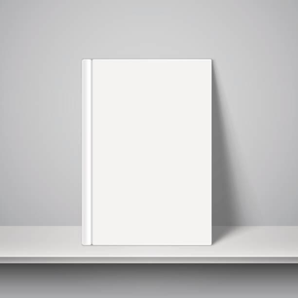 Empty White Book Template vector art illustration
