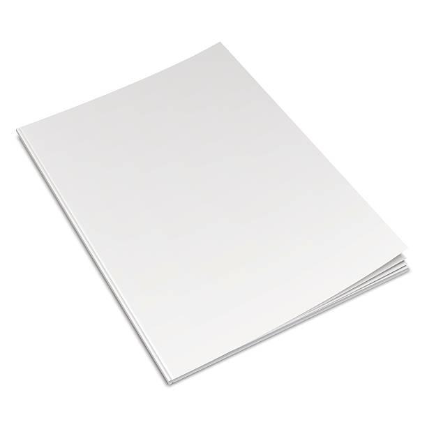 puste białe książki - katalog stock illustrations