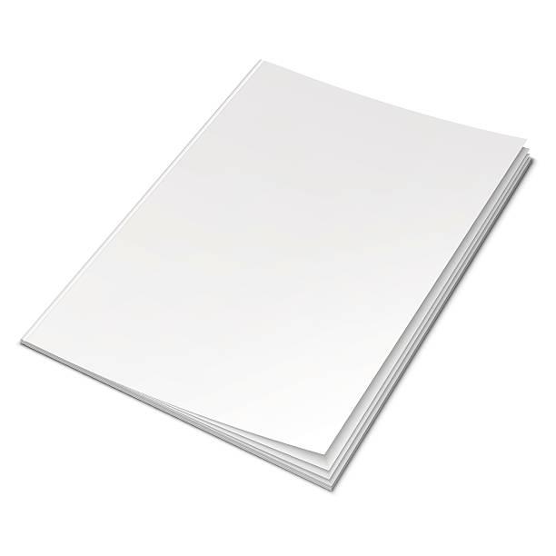 empty white book - dergi stock illustrations