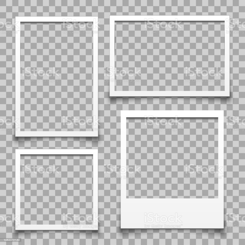 Empty white photo frame - for stock royalty-free empty white photo frame for stock stock illustration - download image now