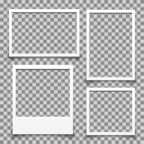 Empty white photo frame - for stock vector Empty white photo frame - for stock vector polaroid frame stock illustrations