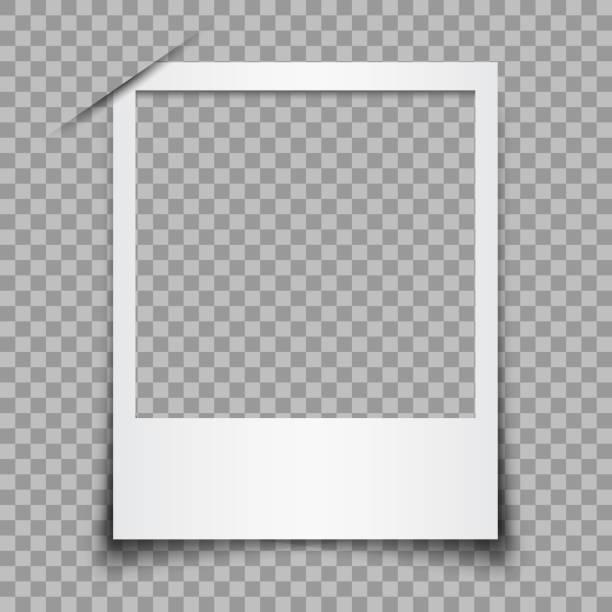 stockillustraties, clipart, cartoons en iconen met lege witte fotolijst - voorraad vector - polaroid