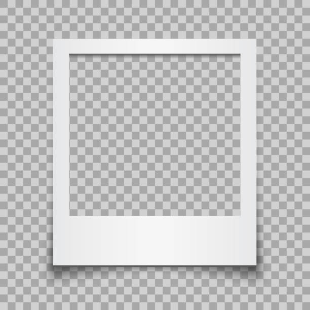 Empty white photo frame - vector for stock Empty white photo frame - vector for stock frame border stock illustrations