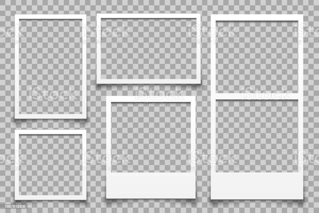 Leerer weißer Fotorahmen - Vektor - Lizenzfrei Alt Vektorgrafik