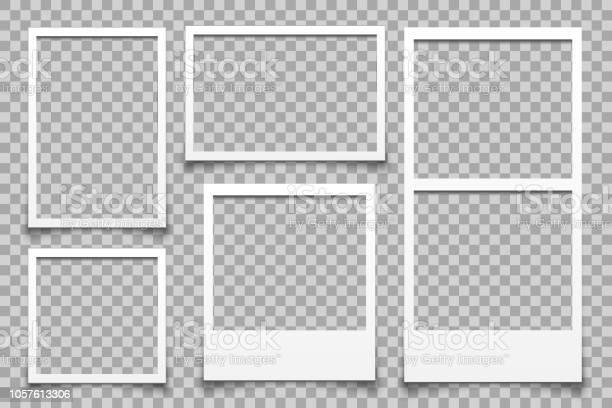 Leerer Weißer Fotorahmen Vektor Stock Vektor Art und mehr Bilder von Alt