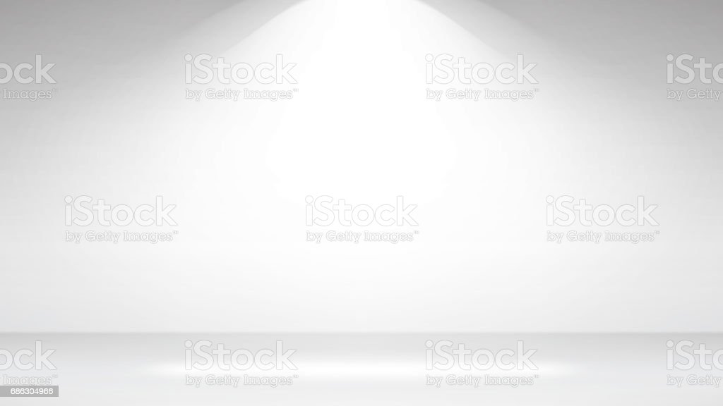 Empty White Photo Studio Interior Background. Realistic Empty White Wall. Vector Illustration vector art illustration