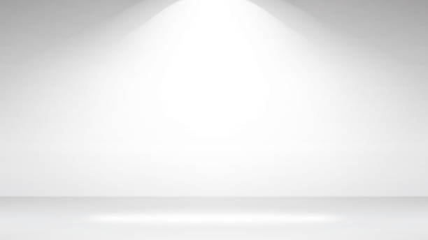 illustrazioni stock, clip art, cartoni animati e icone di tendenza di empty white photo studio interior background. realistic empty white wall. vector illustration - turno sportivo