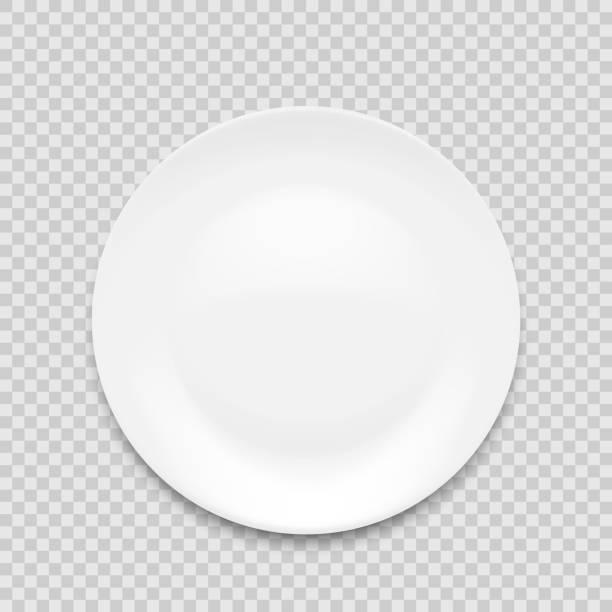ilustraciones, imágenes clip art, dibujos animados e iconos de stock de placa blanca vacía aislada sobre fondo blanco. ilustración vectorial. - plate