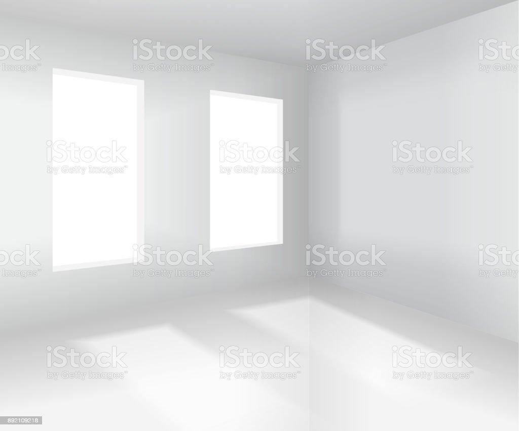 Leeren Weißen Raum Innenraum Vektorillustration Stock Vektor Art und ...