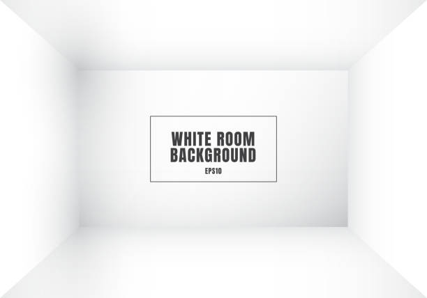 3d empty white room modern blank interior background. house, studio room. you can use for mockup you business project - empty room stock illustrations
