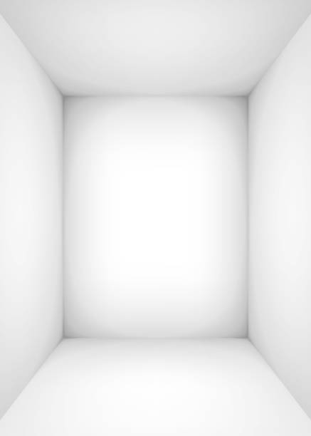 Empty white room. The inner space of the box. Vector design illustration. Mock up for you business project Empty white room. The inner space of the box. Vector design illustration. Mock up for you business project no people stock illustrations