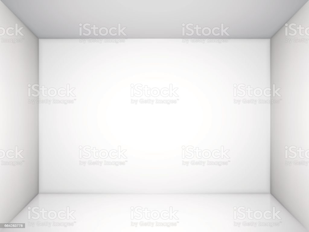 Empty White Room vector art illustration